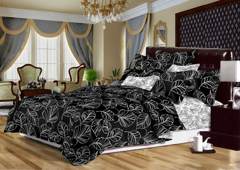 Exklusivne obliečky Cotton World LISTY 140x200 s plachtou